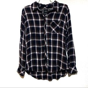 Rails Hunter Plaid Button Up Front Pocket Top